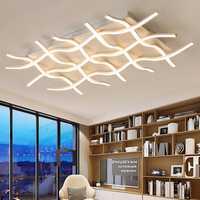 Creativas y modernas luces de techo LED para sala de estar, dormitorio, cocina, negro/blanco, lámpara de techo Deco, accesorios de iluminación para el hogar interior