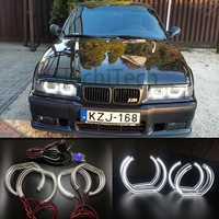Para 1996-2000 E36 BMW Serie 3 Coupé y cabriolet de alta calidad de estilo DTM cristal blanco LED Ojos de Ángel luz de día DRL