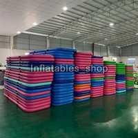 Livraison gratuite 3m de Long rose pas cher tapis de gymnastique en plein Air gonflable sol piste de dégringolade Airtrack