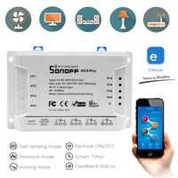 Sonoff 4CH Pro R2 Smart Home Wifi Switch 4 Gang Inching auto-bloqueo Interlock Control interruptor inteligente App interruptor remoto