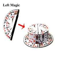 Buena calidad plegable ventilador de la tarjeta a sombrero trucos de magia en el escenario cerca de magia accesorios comedia juguetes Juguetes Accesorios ilusiones