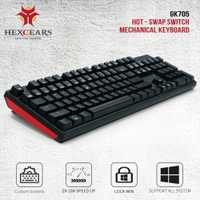 HEXGEARS GK705 intercambiables en caliente Teclado mecánico 104 llaves Kailh caja de interruptor de jugador para teclado de computadora teclado de juego
