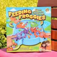 1 piezas alimentación Rana juego de interacción padre-niño niños cerebro acción juguetes educativos para la primera infancia.