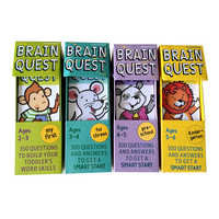Cerveau Quête Anglais Version De le Développement Intellectuel Carte Autocollant Livres Questions Et Réponses Carte Smart Start Enfant Enfants
