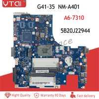 G41-35 placa base NM-A401 para Lenovo G41-35 placa base de computadora portátil A6-7310 CPU BMWQ3/BMWQ4 NM-A401 Placa base con prueba de buena