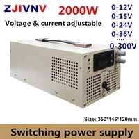 2000 W fuente de alimentación conmutada 0-12 V 15 V 24 V 27 V 36 V 48 V 60 V 70 V 80 V 90 V 110 V 220 V 300 V voltaje ajustable y alimentación de corriente