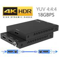2019 4 K 60Hz HDMI 2,0 Extender 50 m 18 Gbps y bucle HDMI extensor con IR 4 K HDMI a RJ45 Extender transmisor receptor