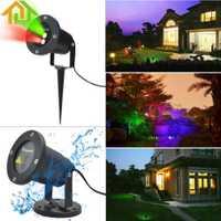Proyector láser móvil de árbol de jardín resistente al agua luz LED de escenario luces de paisaje brillantes para exterior/interior/casa decorativa