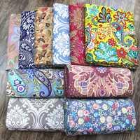 240 cm impreso algodón mantel tela de lona gruesa algodón diy cortina funda de almohada hojas sofá tela patchwork tela