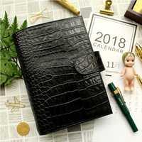 Yiwi cuero genuino Notebook diario planificador con bolsillo cuaderno Agenda DIY recarga escuela papel regalo de cumpleaños