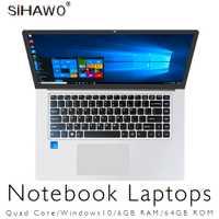 Portátil de 15,6 pulgadas Windows 10 Ultrabook Gaming Laptops Intel Core Celeron N3450 ordenador portátil con 6GB RAM GB 64 GB 128 GB SSD ROM