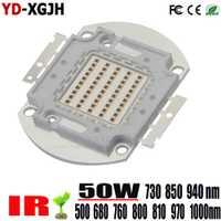 LED de alta potencia Chip 730nm 940nm 500-685-760-800-805-970-1000NmIR infrarrojos 50 W emisor de luz de mazorca de la visión nocturna de la Cámara de CCTV