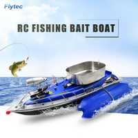Flytec inalámbrico inteligente barco eléctrico del RC barco cebo de pesca Control remoto buscador de los pescados barco reflector juguetes para niños
