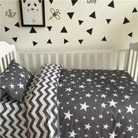3cps/set 100% algodón caliente del bebé del INS Ropa de cama set incluye almohada hoja plana cubierta del edredón rayas y estrellas árbol caballo 17 estilos