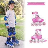 1 par de alta calidad patines solo flash niños ajustable transpirable cómodo freestyle patines HWC