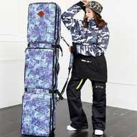 Unisex bolsa de doble placa de esquí Snowboard bolsa 152 cm 165 cm de gran capacidad impermeable portátil esquí bolsas de esquí equipo 2018