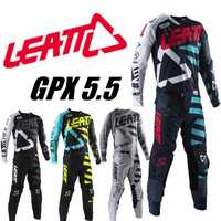2019 LEATT GPX 5.5 ensemble de vitesse de Motocross 4 couleurs MX Moto Kits ATV Dirt Bike leatt maillot et pantalon Supercross Enduro ensemble de maillot