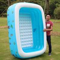 Por encima del suelo piscinas piscina al aire libre de la familia engrosamiento piscina inflable adulto niño agua océano piscinas para venta, 2 m de longitud