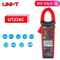 UNI-T UT216C 600A frecuencia capacitancia temperatura NCV prueba UT216C 600A Digital abrazadera metros UT216C medidor de pinza verdadero RMS