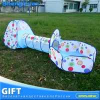 3 pcs/ensemble Pliable Bébé Piscine-Tube-Tipi Jouet Tentes 3 couleurs Pop-up Jouer Tente Jouet Enfants tunnel Jouer Maison Boules Piscines