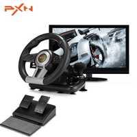 PXN V3II tapis de jeu de course 180 degrés volant vibrations Joysticks avec pédale pliable pour PC PS3 PS4 Xbox One tout-en-un