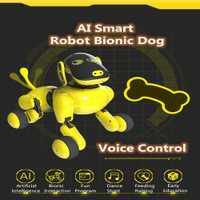 Mascota electrónica divertida interactiva de Control remoto inalámbrico cachorro RC inteligente perro Robot comandos de voz APP Control perro Robot de juguete