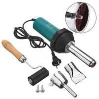 1 Kit d'outils de soudage plastique torche à gaz à Air chaud 220 V 1080 W 50Hz + buse + rouleau de pression avec 2 pièces