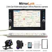 Cámara trasera 2 din car radio General reproductor multimedia 2din radio visual grabadora de cassette doble din auto estéreo contacto BT