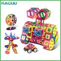71-149 Uds tamaño grande magnético diseñador set de constructor Regular Magnents juguetes educativos para niños niño niña Regalo de Cumpleaños de Navidad
