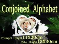 Conjoined Artificial madera letras palabras amor decoración de la boda marco de fotos de madera carta boda cumpleaños decoración de la boda regalo