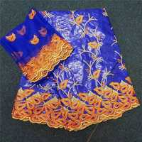 Tela bordada africana de bazin Riche tela africana de alta calidad bazin Riche Getzner para costura de retazos 30