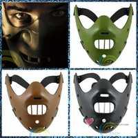 Livraison gratuite effrayant masques le tueur Psycho silencieux masques jouets Halloween Costumes agneau cannibale horreur film blague blague cadeaux