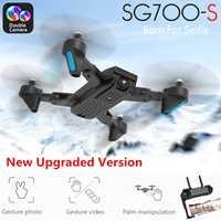 SG700-S RC Drone con cámara 1080 p Wifi FPV Quadcopter Selfie Drone flujo óptico Cámara Dual Control De Palma Flying juguetes