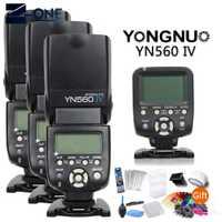 Yongnuo 3 * YN560IV speedlite + YN560-TX controlador de flash inalámbrico para Canon 77D 750D 760D 5D 60D 6D 7D 400D 80D 600D 6D