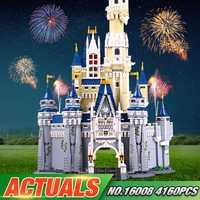 En stock educativos 16008 el 71040 Castillo de princesa de Cenicienta de La ciudad modelo bloque de construcción de ladrillos educativos chico juguetes para regalos