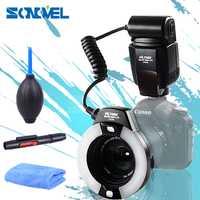 Viltrox JY-670C TTL speedlite Cámara macro anillo de flash para Canon 800D 760D 650D 80D 77D 60D 70D 7D 5D Mark IV 750D 700D