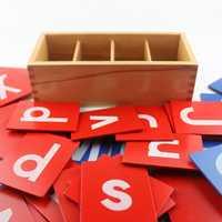 Montessori Matériaux Sensorielles Sable Papier Lettre Carte Montessori Jouet Éducatif 3 Ans En Bois Jouets Pour Enfants UC1766H