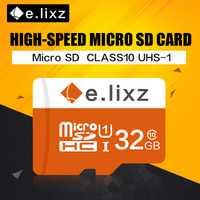E. lixz 10 unids/lote precio al por mayor 100% de la capacidad real tarjeta TF/tarjeta Micro SD 8 GB 16 GB 32 GB 64 GB Clase 10 memoria microSD