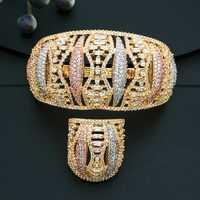 ModemAngel de alta calidad hueco delicado joyas Cubic Zirconia cobre fiesta boda Bridals señora Bijoux