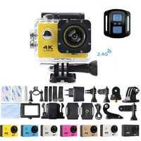 Motocicleta F60R 4 k WIFI cámara de acción remota 1080 p HD 16MP GO PRO Estilo casco Cámara 30 metros impermeable deportes DV Cámara