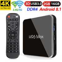 H96 Max X2 caja de TV inteligente Android 8,1 Amlogic S905X2 Quad Core 2 GB 16 GB 2,4g + 5 GHz wifi android 8,1 4 K Set top tv box X96 mini