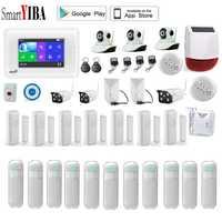 SmartYIBA APP Wifi GSM Alarma Residencial con Amazon Alexa cámara IP al aire libre GPRS SMS sistema de alarma antirrobo de seguridad
