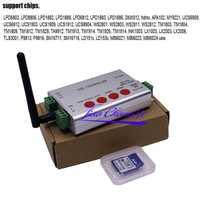 WIFI LED APP Pixel tarjeta SD controlador DMX 512 APA102 WS2812B WS2811 WS2801 tira
