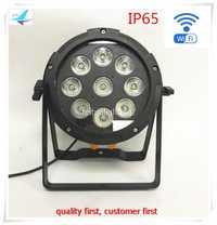 Envío gratis 10 unids/lote IP65 etapa Lira 19x12 W LED batería inalámbrica Par luz inteligente WIFI Par puede RGBWA lavado UV 6IN1 Disco de DJ iluminación