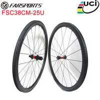 DT 240 s SP hubs con rayos Sapim aero 700C 38mm x 25mm carbono bicicleta de Triatlón bicicleta Farsports