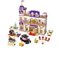 1676 pièces coeur Grand hôtel amis blocs de construction briques compatibles filles enfants bricolage cadeau d'anniversaire jouets pour enfants
