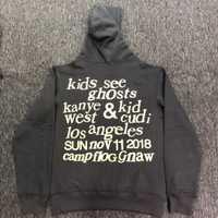 2019 mejor calidad Kanye West y los niños ver fantasmas carta, las mujeres de los hombres sudaderas con capucha sudaderas Hiphop hombres Sudadera con capucha de algodón de Jersey