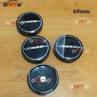 100 piezas 56mm ABS aleación cepillado cubo personalizado rueda Centro gorras 60mm Hubcaps cubierta accesorios de neumáticos para Audi BMW toyota