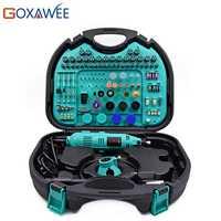GOXAWEE 130 W estilo Dremel velocidad Variable herramienta giratoria eléctrica Mini taladro eléctrico con accesorios herramientas eléctricas