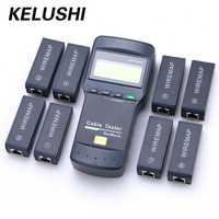 KELUSHI NF-8108M multifunción Cat5 RJ45 red LAN Cable de teléfono probador del metro Mapper 8 Unid final Jack de prueba inglés operación